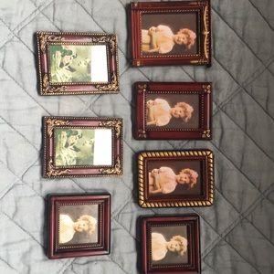Cute set of 7 mini picture frames